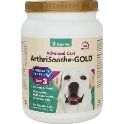 NaturVet ArthriSoothe-GOLD Hip & Joint Stage 3 Advanced Formula Dog & Cat Tablets, 240 count found on Bargain Bro India from Chewy.com for $94.99