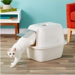 Van Ness Enclosed Cat Litter Pan, Large White found on Bargain Bro Philippines from Chewy.com for $9.89