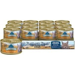 Blue Buffalo Wilderness Flatland Feast with Turkey, Quail & Duck Grain-Free Canned Cat Food, 3-oz, case of 24