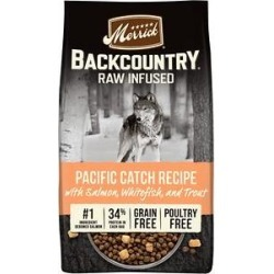 Merrick Backcountry Raw Infused Grain Free Dry Dog Food Pacific Catch Recipe, 10-lb bag