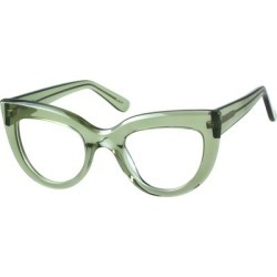 Zenni Women's Retro Cat-Eye Prescription Glasses Green Tortoiseshell Plastic Frame found on Bargain Bro India from Zenni Optical for $27.95