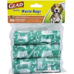 Glad For Pets Waste Bags Refill Pack, 90 count, Scented