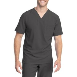Dickies Men's Retro V-Neck Scrub Top - Pewter Gray Size S (L10588) found on Bargain Bro India from Dickies.com for $29.99