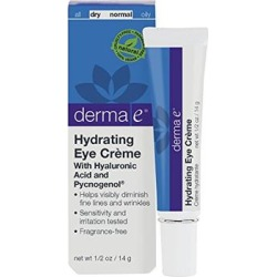 derma e Pycnogenol and Hyaluronic Acid Eye Crème, 0.5 oz (14 g) (Pack of 2)