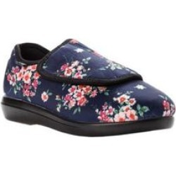 Women's Cush 'N Foot Flat by Propet in Navy Blossom (Size 9 XX(4E)) found on Bargain Bro India from Woman Within for $79.99