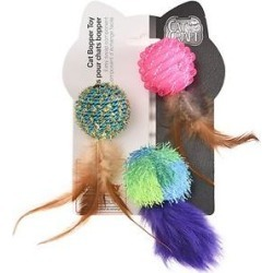 Easy Kitty Cat Bopper Feather Ball Cat Toys, 9 count