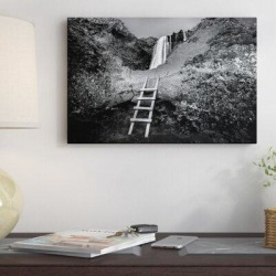 East Urban Home 'Iceland Climb in Black and White' Photographic Print on Canvas ESUR8747 Size: 26