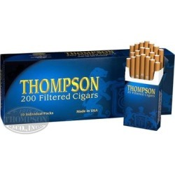 Thompson Filtered Cigars Hard Pack Natural Filtered Smooth - BOX (200) found on Bargain Bro India from thompsoncigar.com for $14.99
