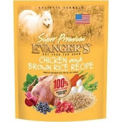 Evanger's Super Premium Chicken with Brown Rice Recipe Dry Dog Food, 4.4-lb bag found on Bargain Bro India from Chewy.com for $9.99