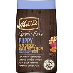 Merrick Grain Free Dry Puppy Food Real Chicken & Sweet Potato Recipe, 4-lb bag