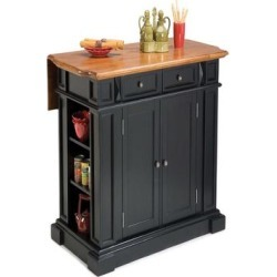 Home Styles Kitchen Island - Black and Distressed Oak