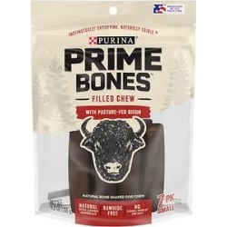 Purina Prime Bones Filled Chew with Pasture-Fed Bison Small Dog Treats, 7 count