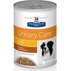 Hill's Prescription Diet c/d Urinary Tract Chicken & Vegetable Canned Dog Food, 12.5-oz, 12 ct