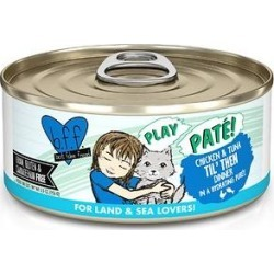 BFF Play Pate Lovers Chicken & Tuna Til' Then Wet Cat Food, 5.5-oz can, pack of 8 found on Bargain Bro from Chewy.com for USD $9.72