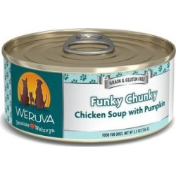 Weruva Funky Chunky Chicken Soup with Pumpkin Grain-Free Canned Dog Food, 5.5-oz, case of 24