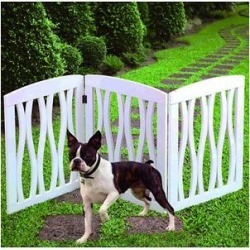 Etna 3 Panel Adjustable Wooden Gate, White found on Bargain Bro India from Chewy.com for $36.95