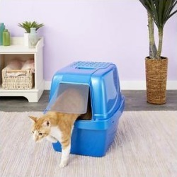 Van Ness Enclosed Sifting Cat Litter Pan, Giant Blue found on Bargain Bro India from Chewy.com for $24.77