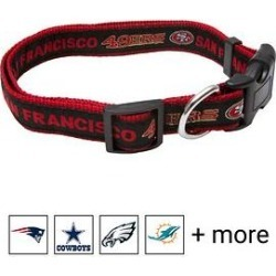 Pets First NFL Dog Collar, San Francisco 49ers, Medium found on Bargain Bro Philippines from Chewy.com for $9.59