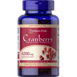 Puritan's Pride Cranberry Fruit Concentrate with C & E 4200 mg-250 Softgels