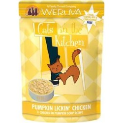 Weruva Cats in the Kitchen Pumpkin Lickin' Chicken in Pumpkin Soup Grain-Free Cat Food Pouches, 3-oz pouch, case of 12 found on Bargain Bro India from Chewy.com for $16.99