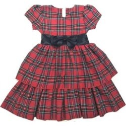 Mi Amore Gigi Big Girl Holiday Dress With Attached Satin Bow - Red found on Bargain Bro India from macys.com for $29.99