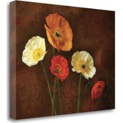 Tangletown Fine Art 'Poppy Perfection I' Graphic Art Print on Wrapped Canvas CAPLP102-2418c Size: 35