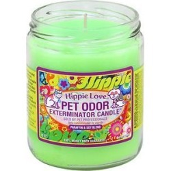Pet Odor Exterminator Hippie Love Deodorizing Candle, 13-oz jar found on Bargain Bro India from Chewy.com for $7.95