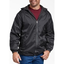 Dickies Men's Fleece Lined Hooded Nylon Jacket - Black Size S (33237) found on Bargain Bro India from Dickies.com for $34.99