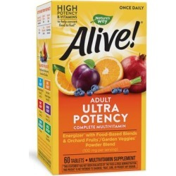Nature's Way Alive! Once Daily Ultra Potency Energizer Multi Vitamin-60 Tablets found on Bargain Bro Philippines from Puritan's Pride for $16.99