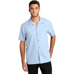 Port Authority W400 Short Sleeve Performance Staff Shirt in Cloud Blue size XL | Polyester found on Bargain Bro from ShirtSpace for USD $19.64