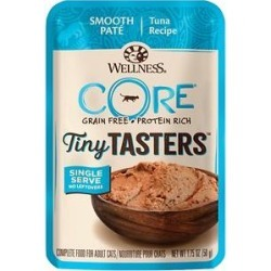 Wellness CORE Tiny Tasters Tuna Pate Grain-Free Cat Food Pouches, 1.75-oz, pack of 12 found on Bargain Bro Philippines from Chewy.com for $11.88