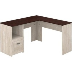 Bush Furniture Townhill 54W L Shaped Desk in Washed Gray & Madison Cherry - Bush Furniture TND154WM2-03 found on Bargain Bro India from totally furniture for $165.29