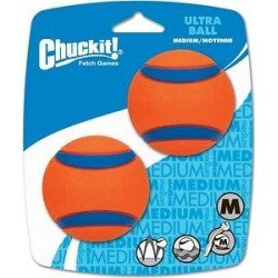 Chuckit! Ultra Rubber Ball Dog Toy, Medium, 2 pack found on Bargain Bro India from Chewy.com for $4.89