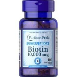 Puritan's Pride Biotin 10,000 mcg-100 Softgels found on Bargain Bro India from Puritan's Pride for $8.39