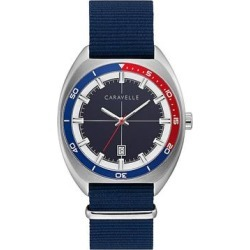 Caravelle by Bulova Men's Blue Nylon Strap Watch - 43B167, Size: Large found on MODAPINS from Kohl's for USD $125.00