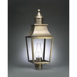 Northeast Lantern Sharon 28 Inch Tall 3 Light Outdoor Post Lamp - 5553-DAB-LT3-SMG found on Bargain Bro Philippines from Capitol Lighting for $978.55