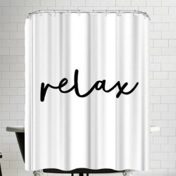 East Urban Home Relax Single Shower Curtain EBHW1494 Color: White found on Bargain Bro India from wayfair.com for $107.99