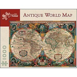 ANTIQUE WORLD MAP 1000 PIECE JIGSAW PUZZLE