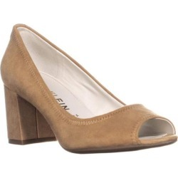 1a9a608d4bd Anne Klein Womens Meredith Leather Peep Toe Classic Pumps found on MODAPINS  from MassGenie for USD