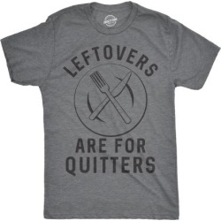 Mens Leftovers Are For Quitters Tshirt Funny Thanksgiving Dinner Tee
