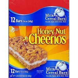 General Mills Honey Nut Cheerios Cereal Bar, 12 Count (GRANOLA/CEREAL/OAT/BRKFAST BAR)
