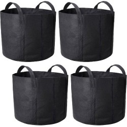 4 Pack Grow Bags Fabric Pots Root Pouch with Handles Planting Container...