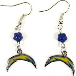 Los Angeles Chargers NFL Sophie Style Dangle Earrings
