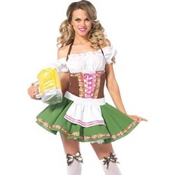 Leg Avenue Women's Beer Babe Oktoberfest Costume, Green, Size Medium