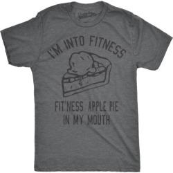 Mens Fitness Apple Pie In My Mouth Tshirt Funny Thanksgiving Food Tee For Guys