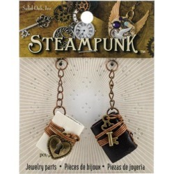 Steampunk Leather Accents 2/Pkg Books