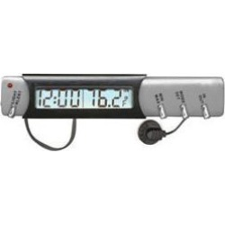 Custom accessories 11059 indoor outdoor thermometer with clock and ice alert