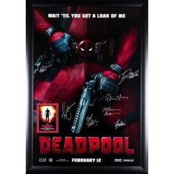 Deadpool - Cast Signed Movie Poster in Wood Frame + COA found on Bargain Bro India from MassGenie for $1230.75