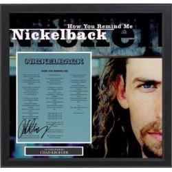 Nickelback - Signed Music Lyrics in Photo Collage Frame