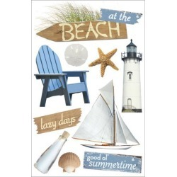 Paper House 3D Stickers-At The Beach